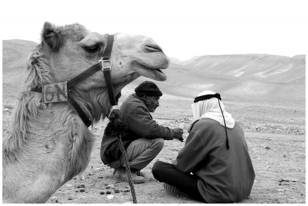 "This untitled photo was taken by Federico Kremenchuzky in the desert near the Bedouin tents. ""I saw these men sitting, drinking their tea and wanted to capture the authenticity of this moment."" (photo credit: Federico Kremenchuzky)"