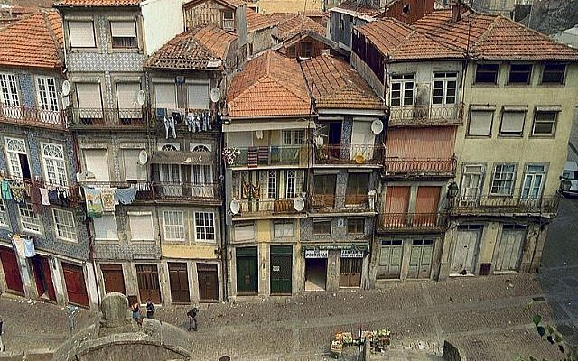 Street view in Porto, Portugal (photo credit: Niels Bosboom/Wikimedia Commons/File)
