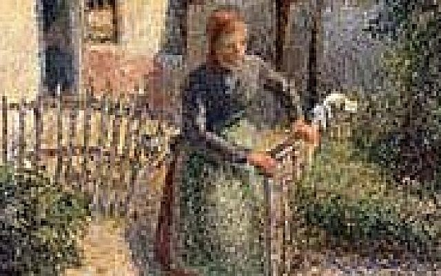 'Shepherdess Bringing in Sheep' by Camille Pissarro, born on the island of St. Thomas. (Public domain, Wikimedia Commons)