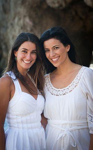 Saba Soomekh (left) with her Hollywood actress sister Bahar Soomekh. (courtesy)