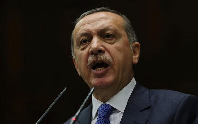 Turkish Prime Minister Tayyip Erdogan (photo credit: AFP/Adem Altan/File)