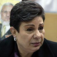 PLO official Hanan Ashrawi (Ahmad Gharabli/Flash90)