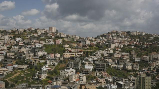 View of Israel's largest Arab city Umm al-Fahm (Photo credit:  Matanya Tausig/Flash90)