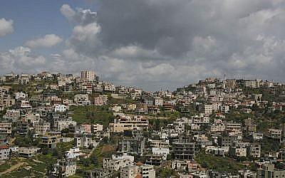 View of Israel's largest Arab city, Umm al-Fahm. (Matanya Tausig/Flash90)