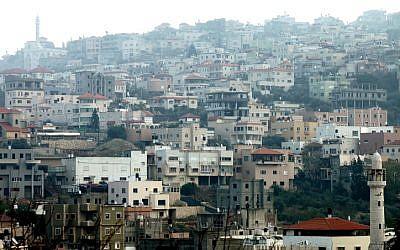 Umm El-Fahm, December 31, 2011. (photo credit: Moshe Shai/Flash90)