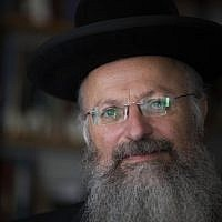 Rabbi Shmuel Eliyahu in 2013. (Flash90/Yonatan Sindel)