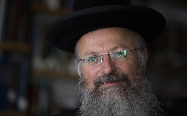 Rabbi Shmuel Eliyahu in 2013. (Flash90/Yonatan Sindel)