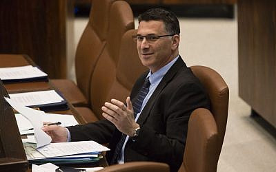 Interior Minister Gideon Sa'ar in the Knesset, December 23, 2013. (photo credit: Flash90)