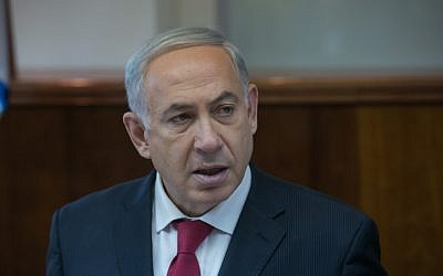 Prime Minister Benjamin Netanyahu in Jerusalem on December 29, 2013. (photo credit: Ohad Zweigenberg/POOL/Flash90)