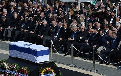 The memorial ceremony for prime minister Ariel Sharon at the Knesset in Jerusalem January 13, 2014. (Photo credit: Amos Ben Gershom/GPO/Flash90)