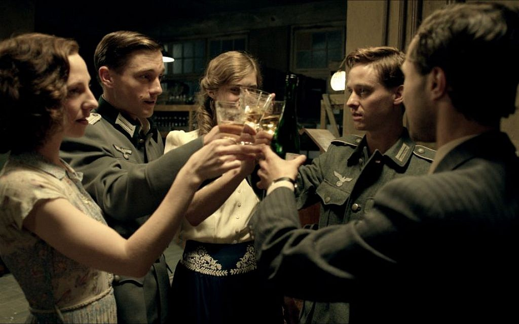 Katharina Schuttler as Greta, Volker Bruch as Wilhelm, Miriam Stein as Charlotte, Tom Schilling as Friedhelm, and Ludwig Trepte as Viktor in Phillip Kadelbach's 'Generation War' (photo credit: Music Box Films)