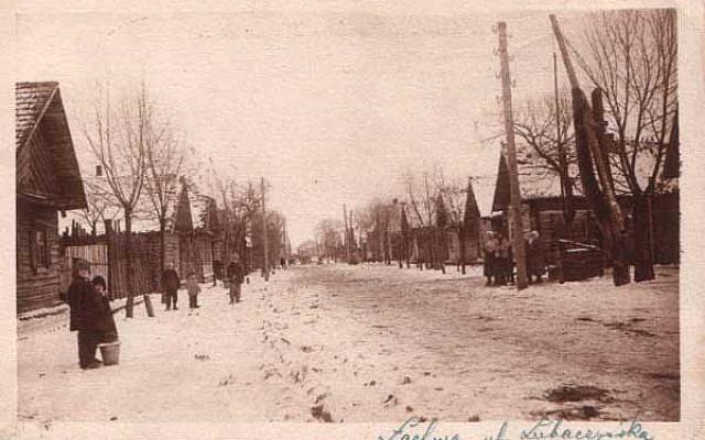 Lakhva,  a Jewish shtetl in Poland, in 1926. (photo credit: Wikimedia Commons, public domain)