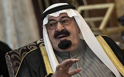 Illustrative photo of Saudi Arabia's King Abdullah (photo credit: AP/Brendan Smialowski/Pool)