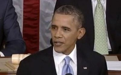 US President Barack Obama delivers the 2014 State of the Union address (screen capture: White House)