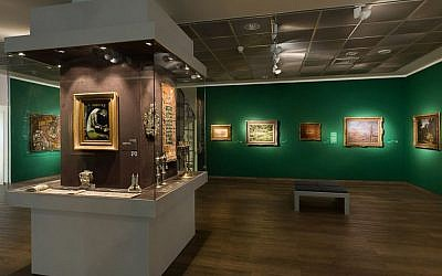 A gallery shot from the Israel Museum exhibition, 'Orphaned Art: Looted Art from the Holocaust' (photo credit: Yossi Kolesnikov)