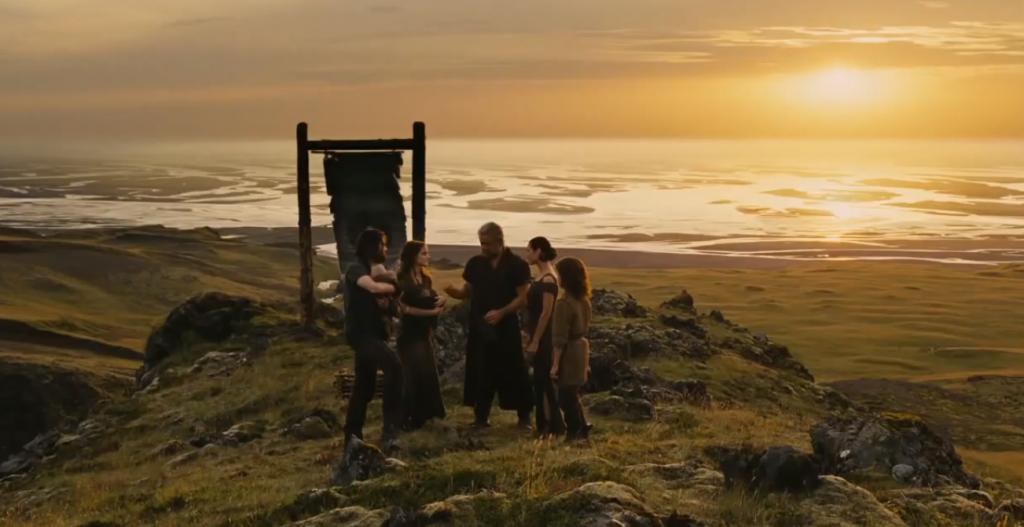 "A scene from Darren Aronofsky's ""Noah."" (photo credit: YouTube screenshot)"