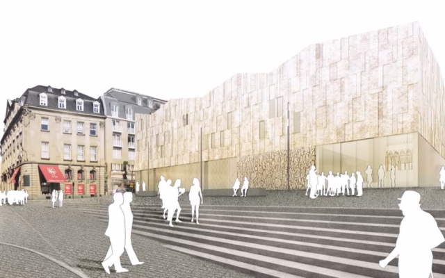 An artist's rendering of the Cologne Jewish Museum/Archeological Zone (photo credit: screen grab YouTube)