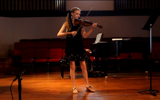 Photo of Jacqueline Berman, from a studio recital in 2011. Jacqueline and her brother Alexander were found dead on Monday in what police believe is a murder-suicide perpetrated by their mother. (photo credit: YouTube screenshot)