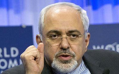 Iranian Foreign Minister Javad Zarif, Jan. 24, 2014 (photo credit: AP/Michel Euler)