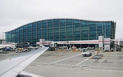 Illustrative photo of Terminal 5 at London's Heathrow Airport (photo credit: Oxyman/Wikimedia Commons/File)