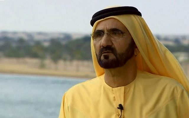 UAE Prime Minister Sheikh Mohammed Bin Rashid al-Maktoum in an interview with the BBC. (photo credit: screen capture, BBC)