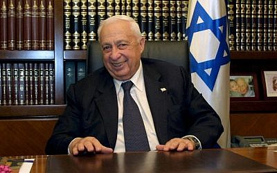Former prime minister Ariel Sharon smiles as he poses for a portrait in 2006. (photo credit: Flash90)