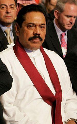 Mahinda Rajapaska (photo credit: World Economic Forum; Nader Daoud/Wikipedia)