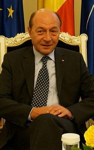 Romanian President Traian Basescu says politicians who deny Romania's role in the Holocaust should be 'stigmatized.' (Cnaan Liphshiz/JTA)