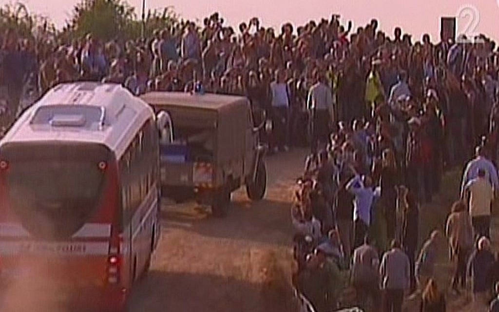 Ariel Sharon's casket arrives at Sycamore Farm in the western Negev for the funeral of the former premier. (photo credit: screen shot/Channel 2)