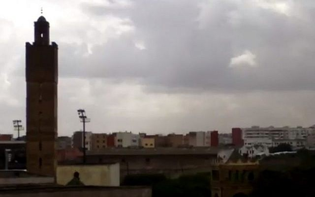 Rain in Casablanca, 2012 (photo credit: YouTube screenshot)