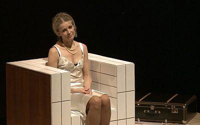 Ingrid Timkova plays Gisi Fleischmann in the play that Natasha Dudinski filmed for her documentary, 'Gisi.' (courtesy of Natasha Dudinski)