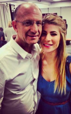 Tamar and her father (Courtesy Tamar Friedman)