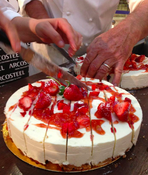 A Gaya strawberry topped cake (Courtesy Gaya Bertele)