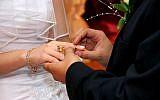 Illustrative photo of a wedding. (Shutterstock via JTA)