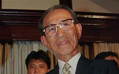 Former Japanese straggler Hiroo Onoda, who fought on for 29 years after the Japanese surrender (photo credit: AP Photo/Bullit Marquez, File)