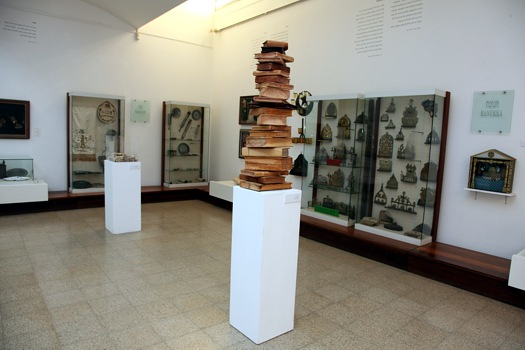 One of the rooms displaying the Ein Harod Judaica collection (Courtesy Ein Harod)
