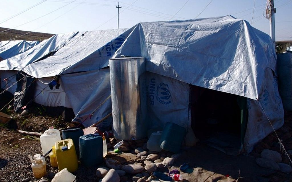A tent in a Kurdish refugee camp (photo credit: courtesy/Kelsey Cannon)