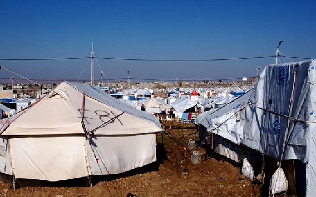 A refugee camp for Syrian Kurds in Iraqi Kurdistan (photo credit: Times of Israel/Lazar Berman)