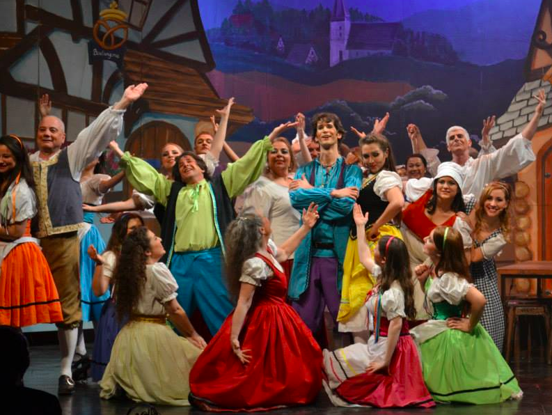 Light Opera of the Negev put on 'Beauty and the Beast' last year (Courtesy LOGON)