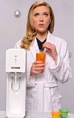 Scarlett Johansson in SodaStream's Superbowl ad (screen capture: YouTube)