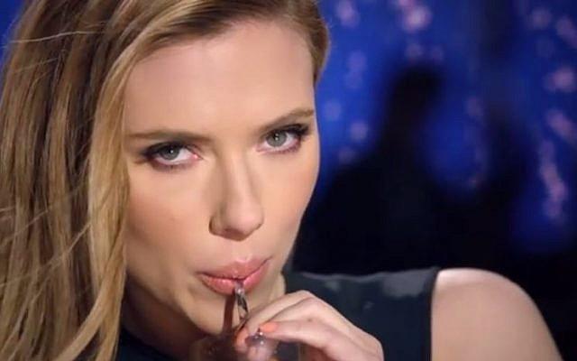 Scarlett Johansen advertising SodaStream (screen capture: YouTube)