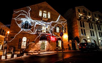 The lights of Winter Noise (Courtesy Sheon Choref)