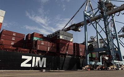 Zim shipping containers (illustrative photo: Yaakov Naumi/Flash90)