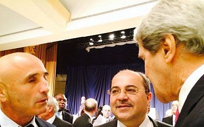 Yesh Atid MK Ofer Shelah (left) with US Secretary of State John Kerry (photo credit: courtesy of Ofer Shelah)
