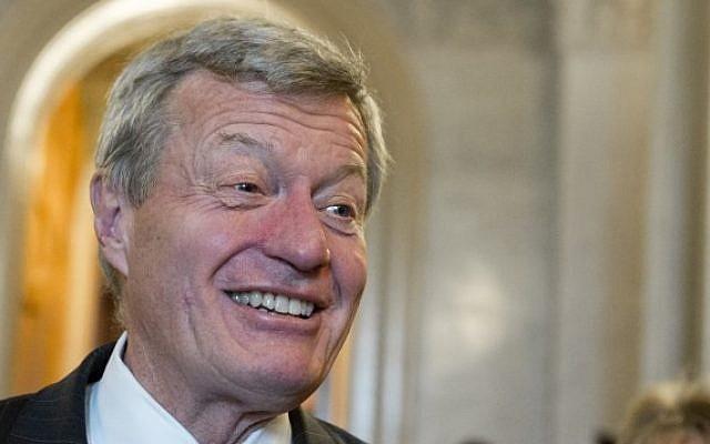 'No expert on China.' US Democratic Senator Max Baucus of Montana (photo credit: AFP/Saul Loeb)