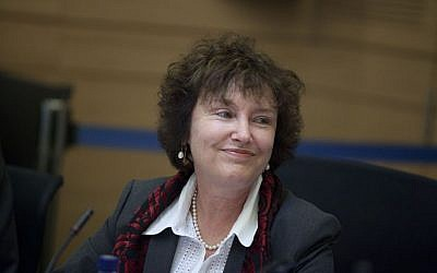 Governor of the Bank of Israel Karnit Flug during a meeting of the Finance Committee in the Knesset in Jerusalem on January 06, 2014. (Photo credit: Flash90)