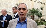 Fatah Central Committee member Muhammad Al-Madani (Elhanan Miller/Times of Israel)