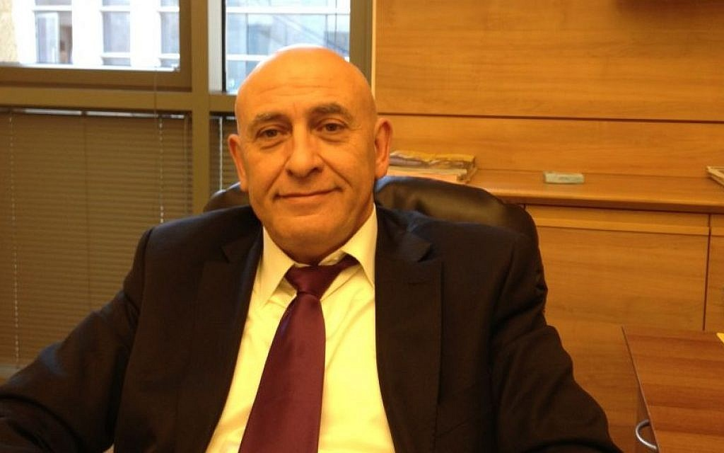 Balad MK Basel Ghattas (photo credit: Elhanan Miller/Times of Israel)