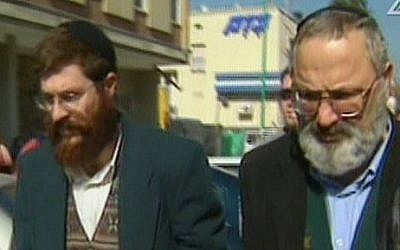 Avihai Weinstein, left, and Eli Cohen are suspected of selling arms to Iran. (screen capture: Channel 2)