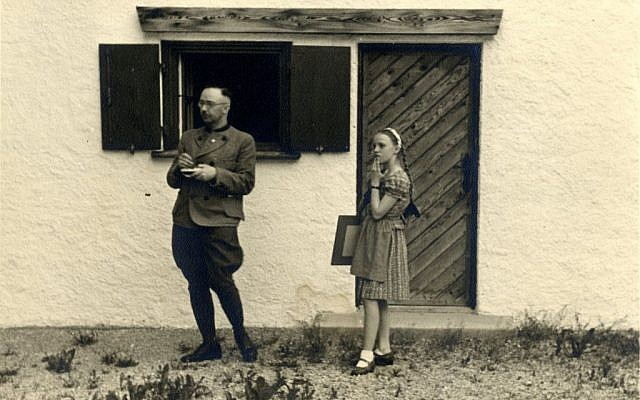 Heinrich Himmler with his daughter Gudrun in Vanessa Lapa's 'The Decent One.' (JTA)